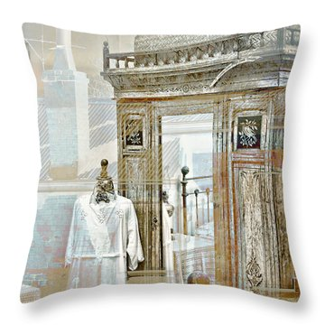 As Time Goes By Throw Pillow by Holly Kempe