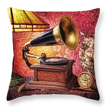As Time Goes By Throw Pillow by Mo T