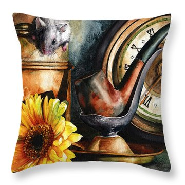 As Time Goes By Throw Pillow