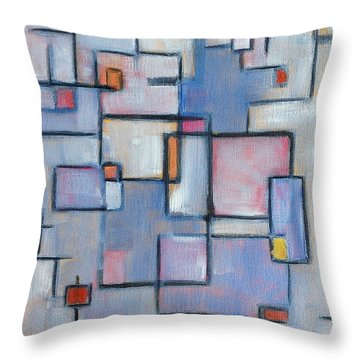 Throw Pillow featuring the painting Asbtract Line Series by Patricia Cleasby
