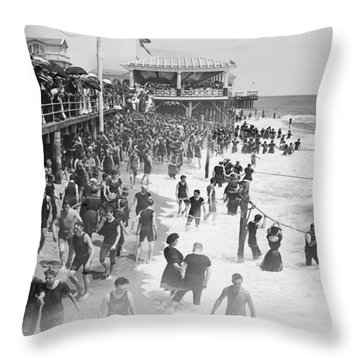 Asbury Park - New Jersey - 1908 Throw Pillow by Daniel Hagerman
