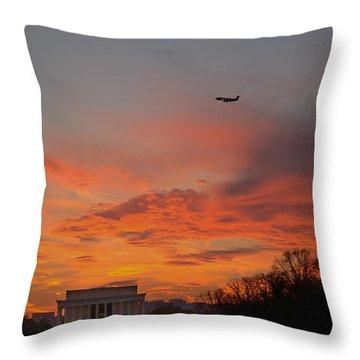 Ascencion Over Abraham Throw Pillow
