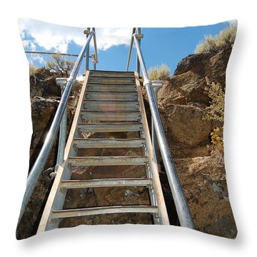 Throw Pillow featuring the photograph Ascending by Debra Thompson