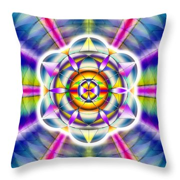 Throw Pillow featuring the drawing Ascending Eye Of Spirit by Derek Gedney