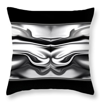 Throw Pillow featuring the digital art Ascension Angel Abstract by Denise Beverly