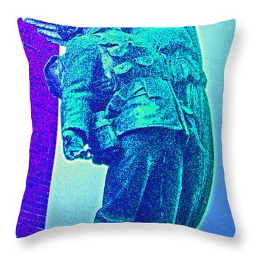 Ascent Of The Hero Throw Pillow by First Star Art