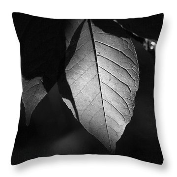 Ash Leaf Throw Pillow