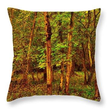 Ash Trees Throw Pillow