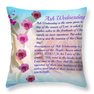 Throw Pillow featuring the painting Ash Wednesday  by Sherri  Of Palm Springs