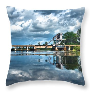 Ashepoo Train Trestle Throw Pillow