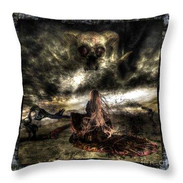 Ashes To Ashes Throw Pillow by Betta Artusi