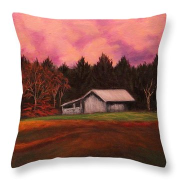Asheville Barn Throw Pillow