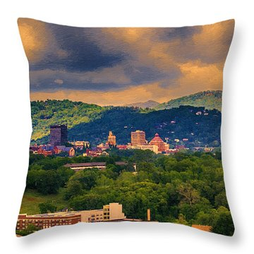 Asheville North Carolina Throw Pillow