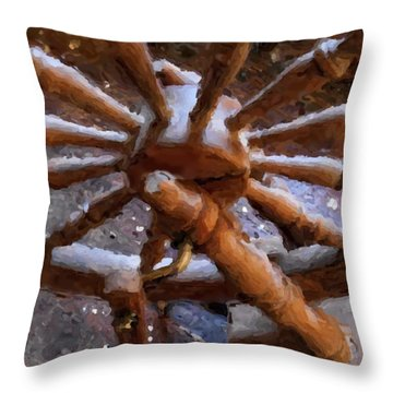 Ashford Wheel Watercolor Throw Pillow