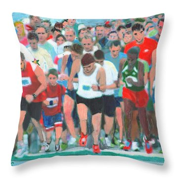 Ashland Half Marathon Throw Pillow by Cliff Wilson