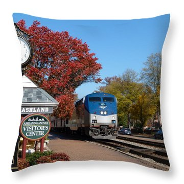 Ashland Train Depot Throw Pillow