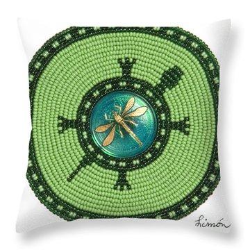 Ashlee's Dragonfly Turtle Throw Pillow
