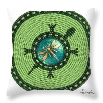 Ashlee's Dragonfly Turtle Throw Pillow