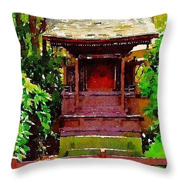 Asian Temple Throw Pillow by Daniel Precht