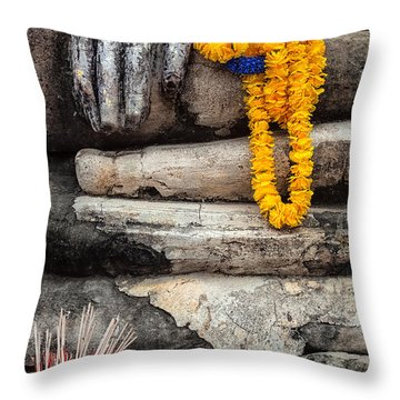 Throw Pillow featuring the photograph Asian Buddhism by Adrian Evans