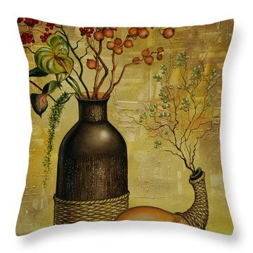 Asian Desert Throw Pillow
