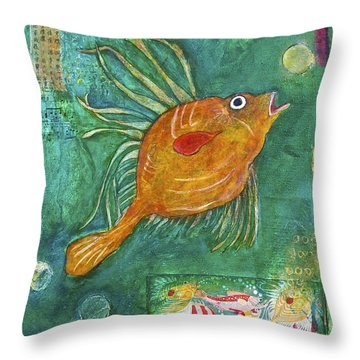 Asian Fish Throw Pillow by Bellesouth Studio