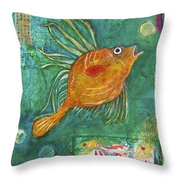 Asian Fish Throw Pillow