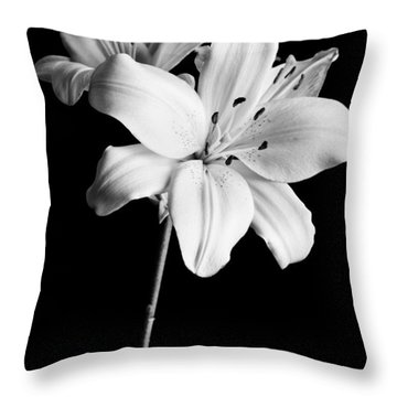 Asian Lilies 2 Throw Pillow by Sebastian Musial