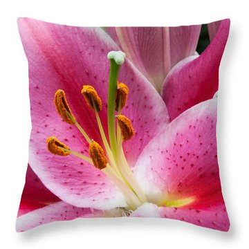 Asian Lily Throw Pillow