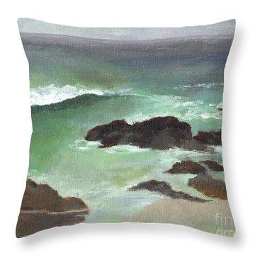 Asilomar Beach Ca Throw Pillow