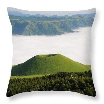 Throw Pillow featuring the photograph Aso Komezuka Sea Of Clouds Cloud Kumamoto Japan by Paul Fearn
