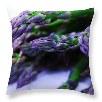 Asparaguy Purple Eye Throw Pillow