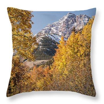 Aspen And Mountains 5 Throw Pillow