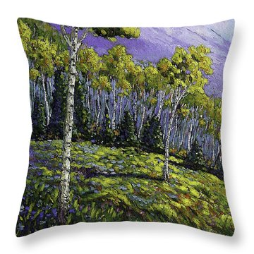 Aspen Blues Throw Pillow