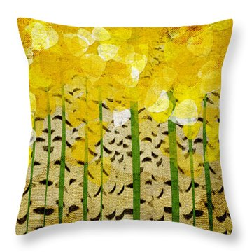 Aspen Colorado Abstract Panorama Throw Pillow