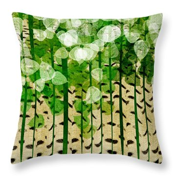 Aspen Colorado Abstract Square 2 Throw Pillow by Andee Design