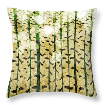 Aspen Colorado Abstract Square 3 Throw Pillow by Andee Design