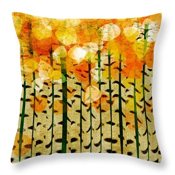 Aspen Colorado Abstract Square 4 Throw Pillow