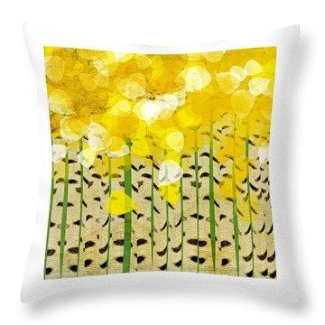 Aspen Colorado Abstract Square Throw Pillow