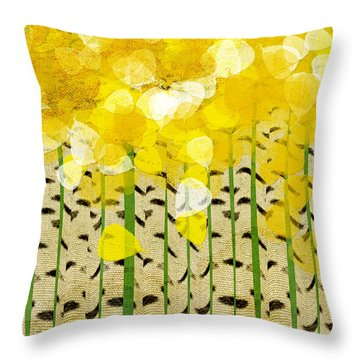 Aspen Colorado Abstract Square Throw Pillow