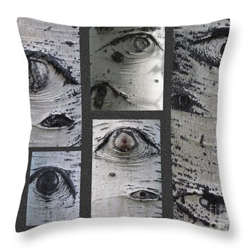Aspen Eyes Are Watching You Throw Pillow