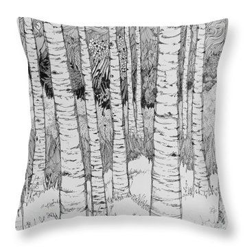 Aspen Forest Throw Pillow by Terry Holliday