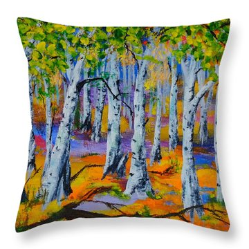 Aspen Friends In Walkerville Throw Pillow