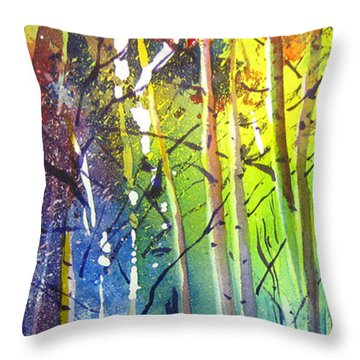 Aspen Grove Throw Pillow by Kris Parins