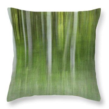 Aspen Grove  Throw Pillow by Priska Wettstein