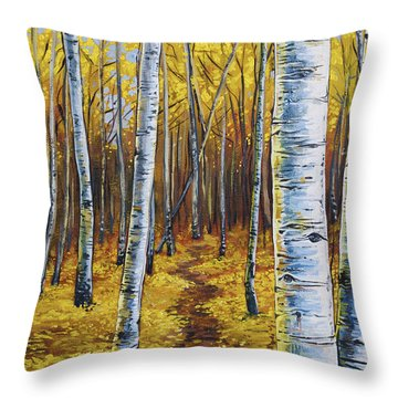 Aspen Trail Throw Pillow