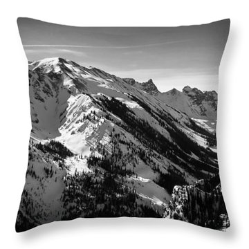 Aspen Winter Throw Pillow by Serge Skiba