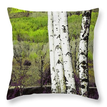 Aspens 4 Throw Pillow