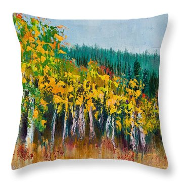 Lothlorien Throw Pillow by Margaret Bobb