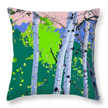 Aspensincolor Green Throw Pillow